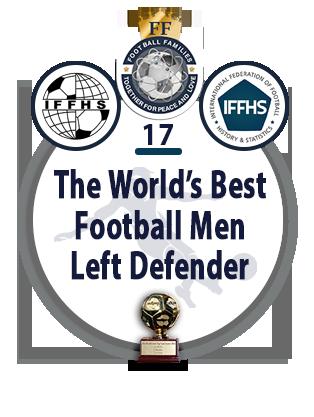 The World's Best Football Men Central Left Defender