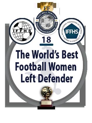 The World's Best Football Women Central left Defender
