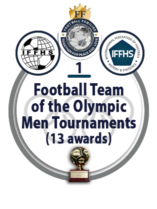 Football Team of the Olympic Men Tournaments (13 awards).