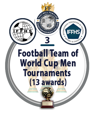 Football Team of the World Cup Men Tournaments (13 awards).