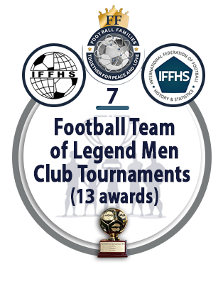 Football Team of the Legend Men Club Tournaments (13 awards).