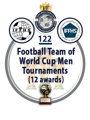 Football Team of the World Cup Men Tournaments (12 awards).