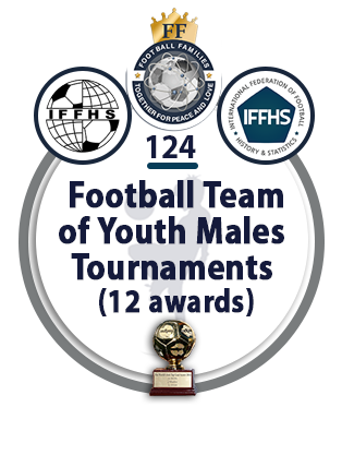 Football Team of the Youth Males Tournaments (12 awards).