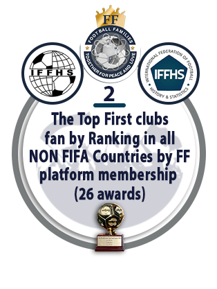 The Top First Clubs Fan by Ranking in All NON FIFA Countries by FF Platform Membership (26 awards).