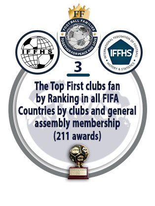 The Top First Clubs Fan by Ranking in All FIFA Countries by Clubs and General Assembly Membership (211 awards).