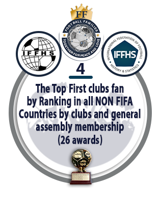 The Top First Clubs Fan by Ranking in All NON FIFA Countries by Clubs and General Assembly Membership (26 awards).