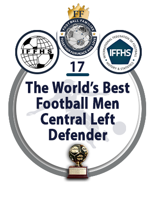 The World's Best Football Men Central Left Defender