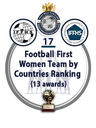 Football First Women Team by Countries Ranking (13 AWARDS).