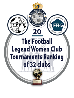 The Football Legend Women Club Tournaments Ranking of 32 clubs.