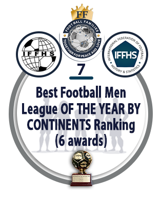 Best Football Men League of the Year by Continents Ranking (6 AWARDS).