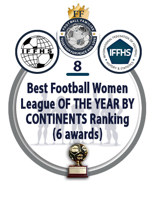 Best Football Women League of the Year by Continents Ranking (12 AWARDS).