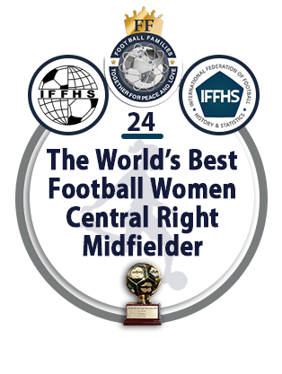 The World's best Football Women Central Right Midfielder