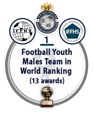 Football Youth Males Team in World Ranking (13 awards).