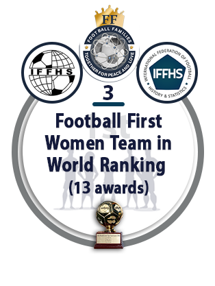 Football First Women Team in World Ranking (13 awards).