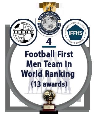 Football First Men Team in World Ranking (13 awards).