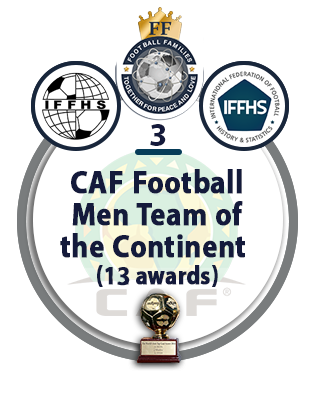 CAF Football Men Team of the Continent (13 awards).