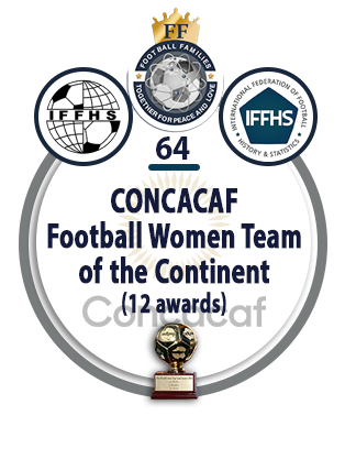 CONCACAF Football Women Team of the Continent (12 awards).