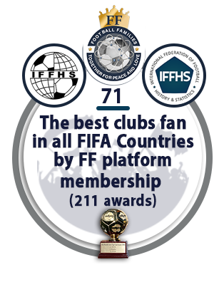 The best clubs fan in all FIFA Countries by FF platform membership (211 awards).