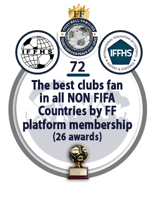 The best clubs fan in ALL NON FIFA Countries by FF platform membership (26 awards).