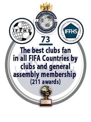 The best clubs fan in all FIFA Countries by clubs and general assembly membership (211 awards).