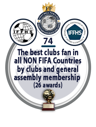 The best clubs fan in ALL NON FIFA Countries by clubs and general assembly membership (26 awards).