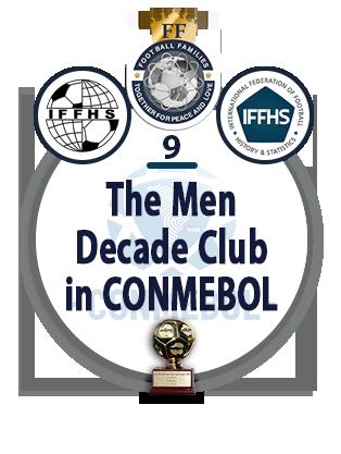 The Men Decade Club in CONMEBOL.